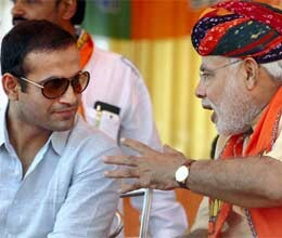 Irfan Pathan in support of Narendra Modi