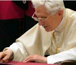pope Benedict sends first personal tweet
