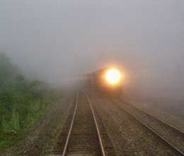 fog affects train schedule across north india