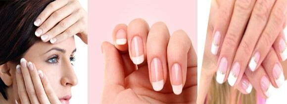 Do French manicure at home