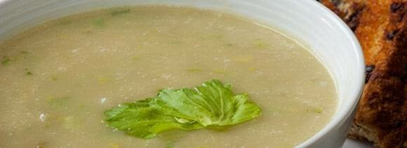 coriander and cheese soup