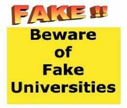 twenty one fake universities of nine states