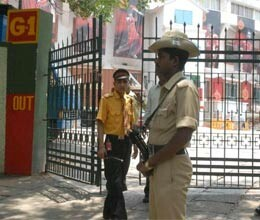 tight security at m chinnaswamy stadium for first indo pak t20 match