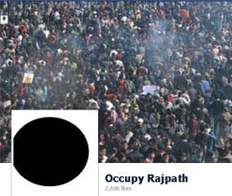 protestors page on facebook 'occupy rajpath'