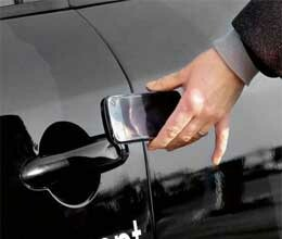 smart phone will become your car key in case of left