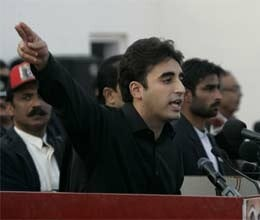 pakistan press marks arrival of new Bhutto into politics