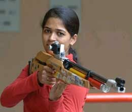 tejaswini shot at gold