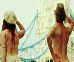 Two Australians strip off to promote nudity