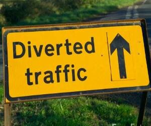 traffice diversion due to 26 jan parade