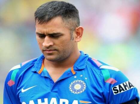 ms dhoni again mistaked in odi match