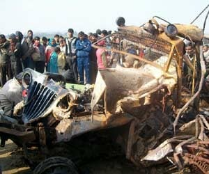 accident in shahjahanpur