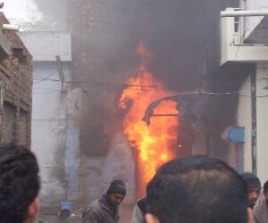 The terrible fire in Sangrur, many house gutted