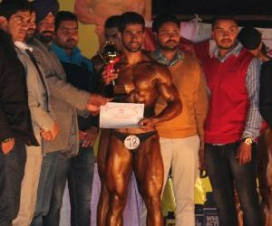 nakul won body building championship in mohali