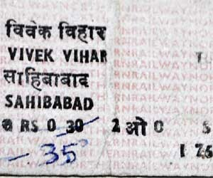 train ticket collection hobby