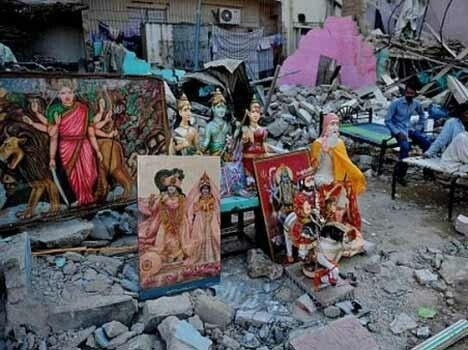 one more ancient hindu temple demolished in pakistan
