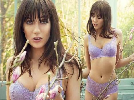 daisy dazzled in purple coloured bikini
