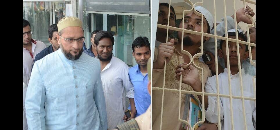 owasi reaches lucknow and deva sharif