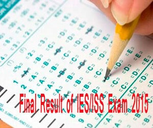 UPSC declares final result of  IES/ISS Exam 2015