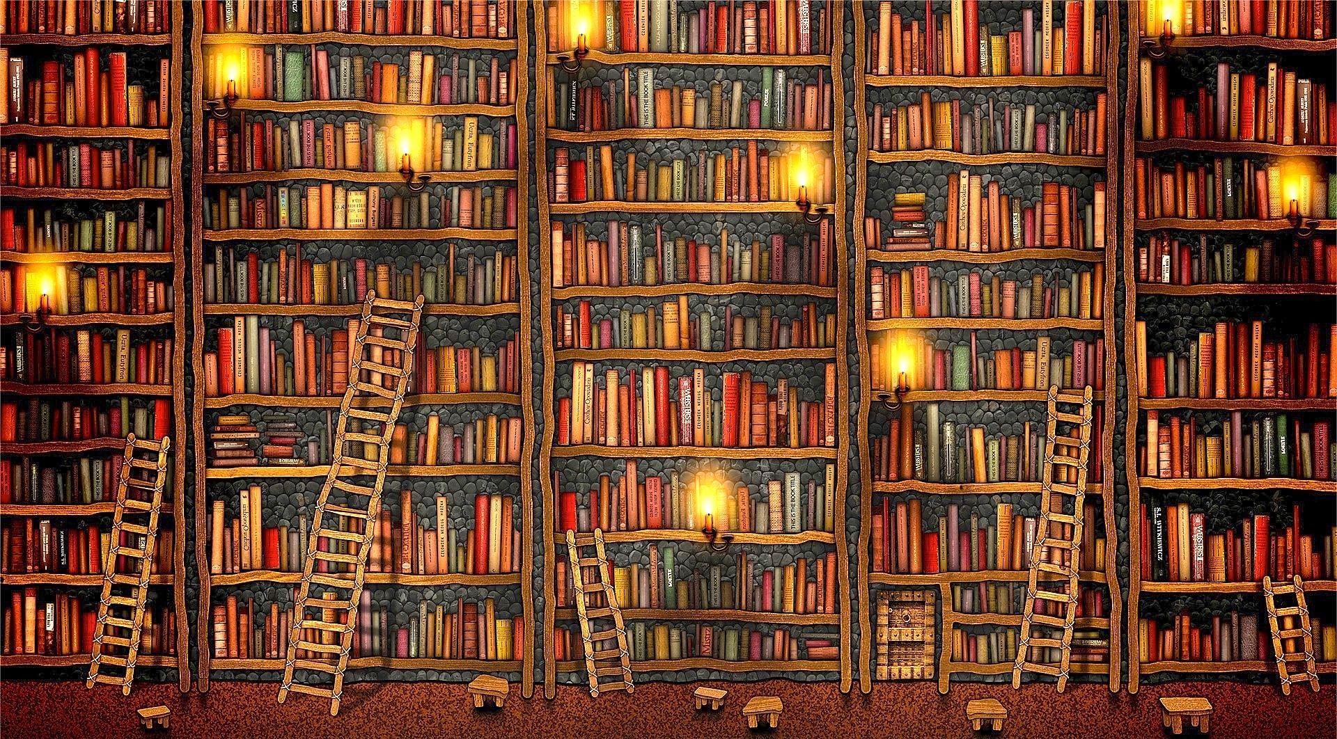 комната-библиотека загрузить